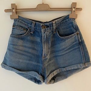 rag & bone high waisted jean shorts